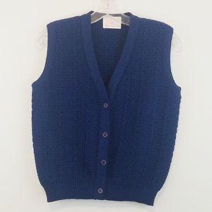 Pendleton Vintage Blue Wool Vest Size 36